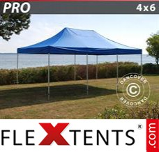 Folding canopy 3x6 m Red, incl. 6 sidewalls