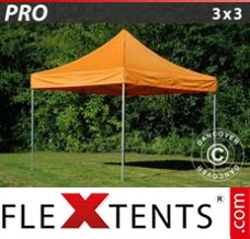 Folding canopy 6x6 m White, incl. 4 sidewalls