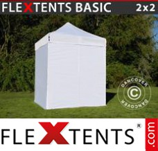Folding canopy 3x3 m White, incl. 4 sidewalls