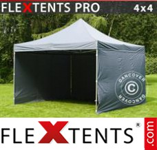 Folding canopy 3x4.5 m White, incl. 4 sidewalls