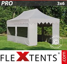 Folding canopy 5x5 m White, incl. 6 sidewalls