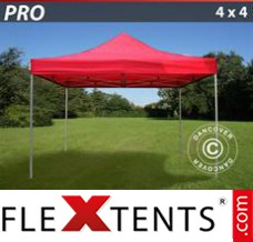 Folding canopy 4x4 m White, incl. 4 sidewalls