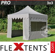 Folding canopy 5x5 m White, incl. 4 sidewalls