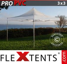 Folding canopy 6x6 m White, incl. 8 sidewalls