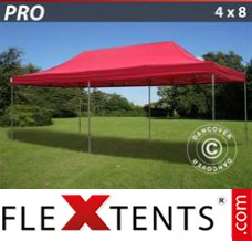 Folding canopy 4x6 m White, incl. 8 sidewalls