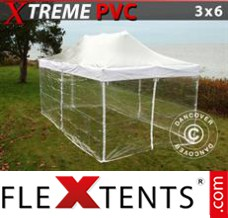 Folding canopy 4x8 m White, incl. 6 sidewalls