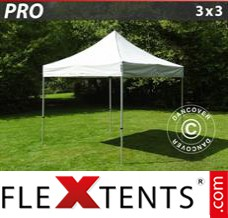 Folding canopy 3x3 m Red, incl. 4 sidewalls