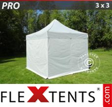 Folding canopy 4x12 m White, incl. sidewalls