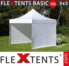 Folding canopy 4x8 m Red