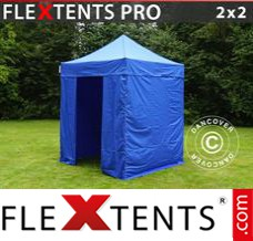 Folding canopy 4x8 m Red, incl. 6 sidewalls