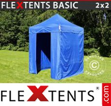Folding canopy 4x6 m Red, incl. 8 sidewalls