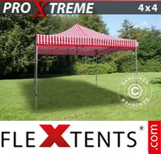 Folding canopy 4x6 m White, incl. 6 sidewalls