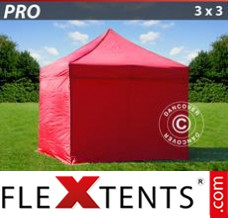 Folding canopy 3x3 m Clear