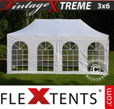 Folding canopy 2.83x2.97 m White, incl. 4 sidewalls