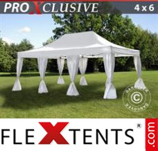 Folding canopy 3x6 m Red